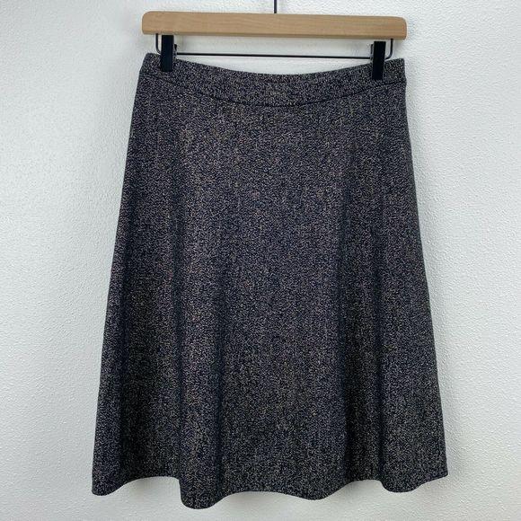 Nanette Lepore Dresses & Skirts - Nanette Lepore Black Gold Metallic A-Line Skirt